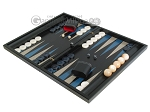 picture of Black Backgammon Set with Racks - Blue (3 of 12)