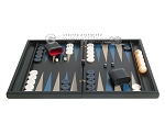 picture of Black Backgammon Set with Racks - Blue (4 of 12)