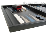 picture of Black Backgammon Set with Racks - Blue (5 of 12)