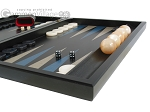 picture of Black Backgammon Set with Racks - Blue (6 of 12)