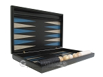 picture of Black Backgammon Set with Racks - Blue (7 of 12)
