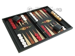 picture of Black Backgammon Set with Racks - Flower (2 of 12)