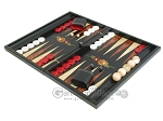 picture of Black Backgammon Set with Racks - Flower (3 of 12)