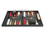 picture of Black Backgammon Set with Racks - Flower (4 of 12)