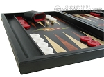 picture of Black Backgammon Set with Racks - Flower (5 of 12)