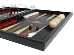 picture of Black Backgammon Set with Racks - Flower (6 of 12)