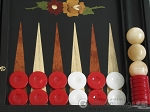 picture of Black Backgammon Set with Racks - Flower (8 of 12)