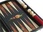 picture of Black Backgammon Set with Racks - Flower (10 of 12)