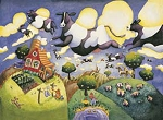 picture of 3238 - Flying Cows 550 Piece Jigsaw Puzzle (1 of 1)