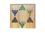 2700 - Chinese Checkers with Glass Marbles - Item: 329