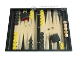 Black Backgammon Set with Racks - Black - Item: 2297