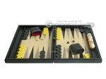 picture of Black Backgammon Set with Racks - Black (4 of 12)
