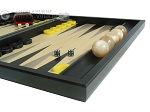 picture of Black Backgammon Set with Racks - Black (6 of 12)