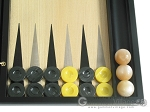 picture of Black Backgammon Set with Racks - Black (8 of 12)