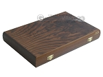 Walnut Backgammon Set with Racks - Item: 2301