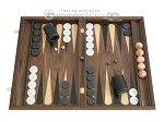 picture of Walnut Backgammon Set with Racks & Slotted Checkers (1 of 12)