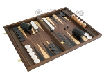 picture of Walnut Backgammon Set with Racks & Slotted Checkers (2 of 12)