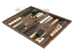 picture of Walnut Backgammon Set with Racks & Slotted Checkers (3 of 12)