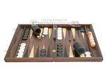 picture of Walnut Backgammon Set with Racks & Slotted Checkers (4 of 12)