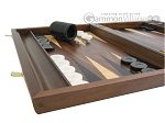 picture of Walnut Backgammon Set with Racks & Slotted Checkers (5 of 12)