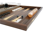 picture of Walnut Backgammon Set with Racks & Slotted Checkers (6 of 12)