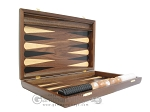 picture of Walnut Backgammon Set with Racks & Slotted Checkers (7 of 12)