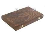 Walnut Backgammon Set with Racks & Slotted Checkers - Item: 2302