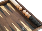 picture of Walnut Backgammon Set with Racks & Slotted Checkers (10 of 12)