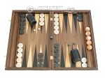 picture of Carved Walnut Backgammon Set with Racks (1 of 12)