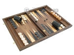 picture of Carved Walnut Backgammon Set with Racks (2 of 12)