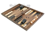picture of Carved Walnut Backgammon Set with Racks (3 of 12)
