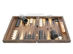picture of Carved Walnut Backgammon Set with Racks (4 of 12)