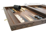 picture of Carved Walnut Backgammon Set with Racks (5 of 12)