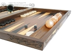 picture of Carved Walnut Backgammon Set with Racks (6 of 12)