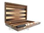 picture of Carved Walnut Backgammon Set with Racks (7 of 12)