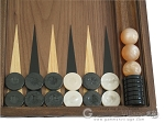 picture of Carved Walnut Backgammon Set with Racks (8 of 12)