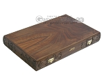 Carved Walnut Backgammon Set with Racks - Item: 2303
