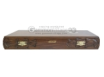 picture of Carved Walnut Backgammon Set with Racks (11 of 12)