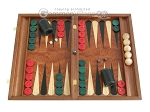 picture of Rosewood Backgammon Set with Racks & Slotted Checkers (1 of 11)