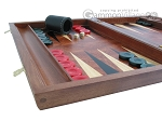 picture of Rosewood Backgammon Set with Racks & Slotted Checkers (5 of 11)
