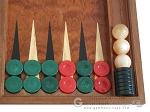 picture of Rosewood Backgammon Set with Racks & Slotted Checkers (8 of 11)