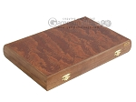Rosewood Backgammon Set with Racks & Slotted Checkers - Item: 2305