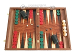 picture of Carved Rosewood Backgammon Set with Racks (1 of 12)