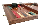 picture of Carved Rosewood Backgammon Set with Racks (5 of 12)