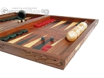 picture of Carved Rosewood Backgammon Set with Racks (6 of 12)