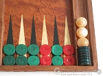 picture of Carved Rosewood Backgammon Set with Racks (8 of 12)