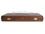 picture of Carved Rosewood Backgammon Set with Racks (11 of 12)