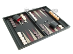 picture of Black Backgammon Set with Racks - Red (2 of 12)