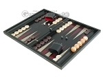 picture of Black Backgammon Set with Racks - Red (3 of 12)