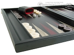 picture of Black Backgammon Set with Racks - Red (5 of 12)